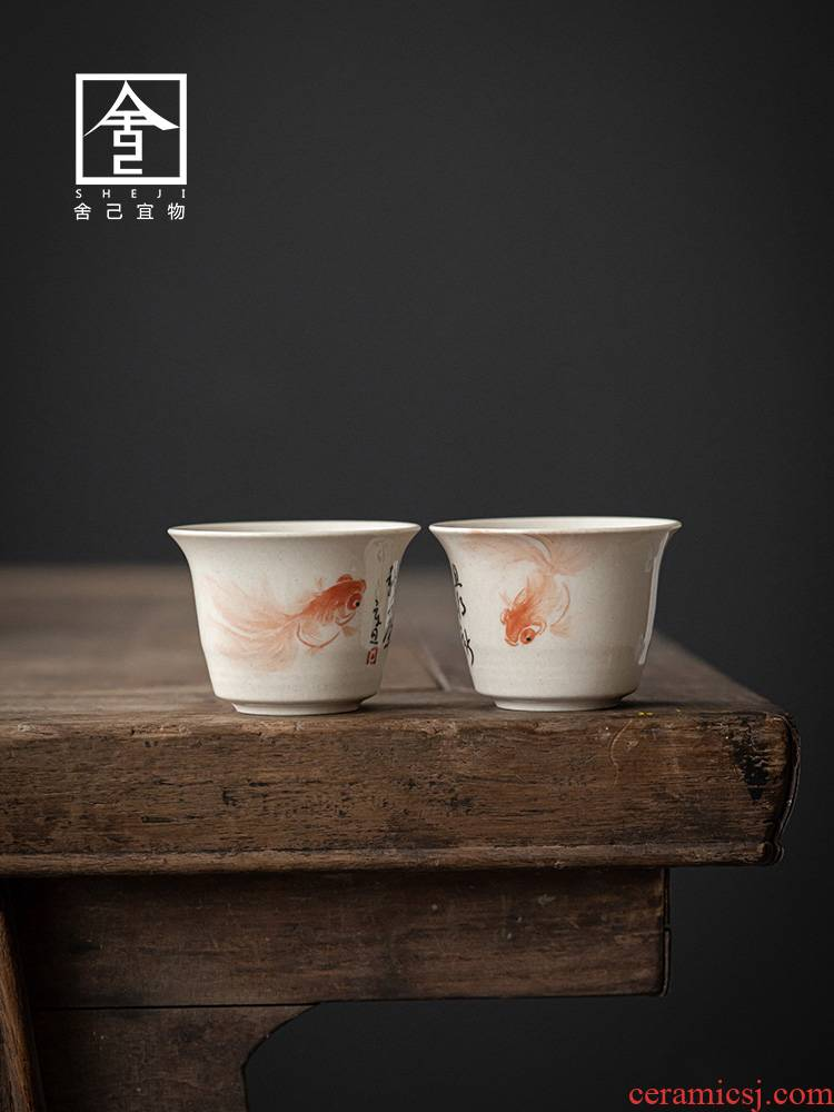 """The Self - """"restoring ancient ways appropriate content ceramic masters cup sample tea cup cup single CPU single hand - made kung fu tea cups"""