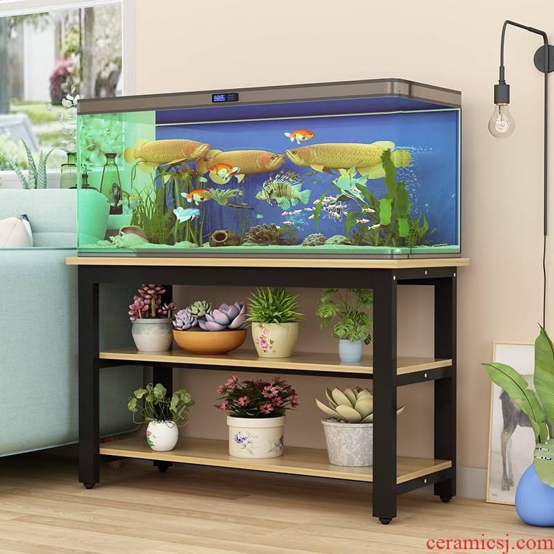 Tank steel Tank bottom ark, turtle cylinder rack shelf bottom metal base cabinets table fish Tank contracted aquarium Tank