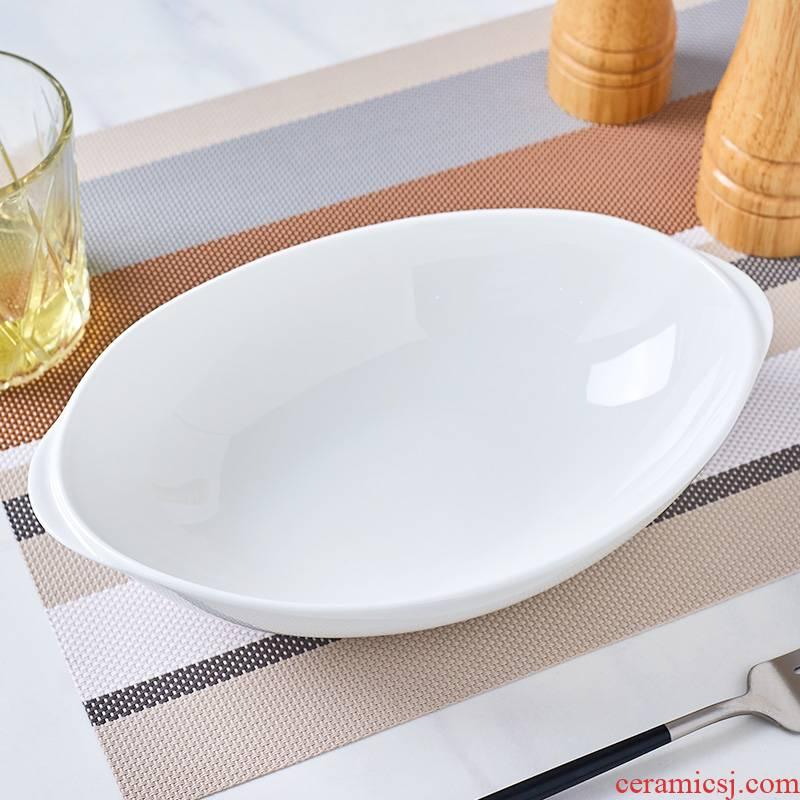 Jingdezhen white ipads China Japanese lovely sweet fruit salad bowl noodles bowl of household ceramic ear soup bowl