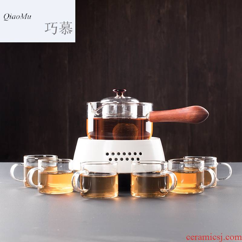 Qiao mu CMJ small glass teapot cooked this black tea tea machine electricity TaoLu household water filter mercifully flower pot boil water