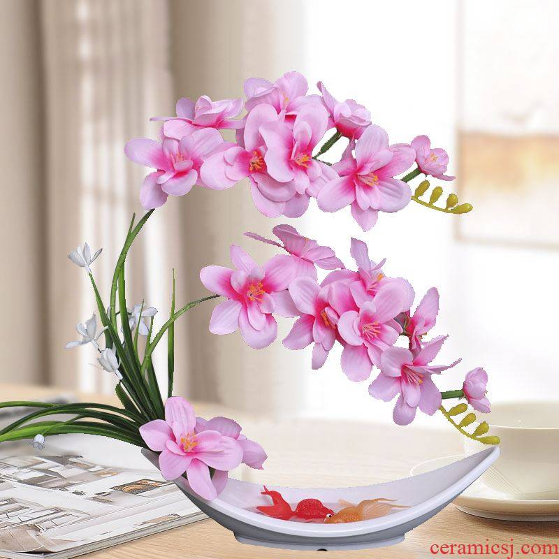 Ribbon seems simulation flower butterfly orchid suits for fake flowers, dried flowers, bankcard ceramic vases, plastic decoration indoor living room table