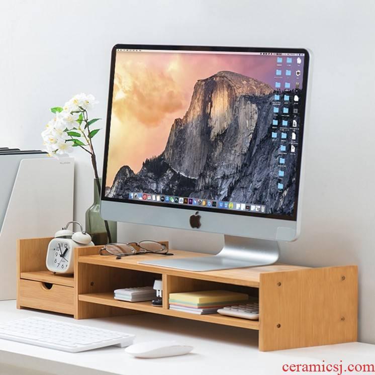 """""""Bringing back the receive who computer desktop screen frame display supporter base desktop office neck guard shelves"""