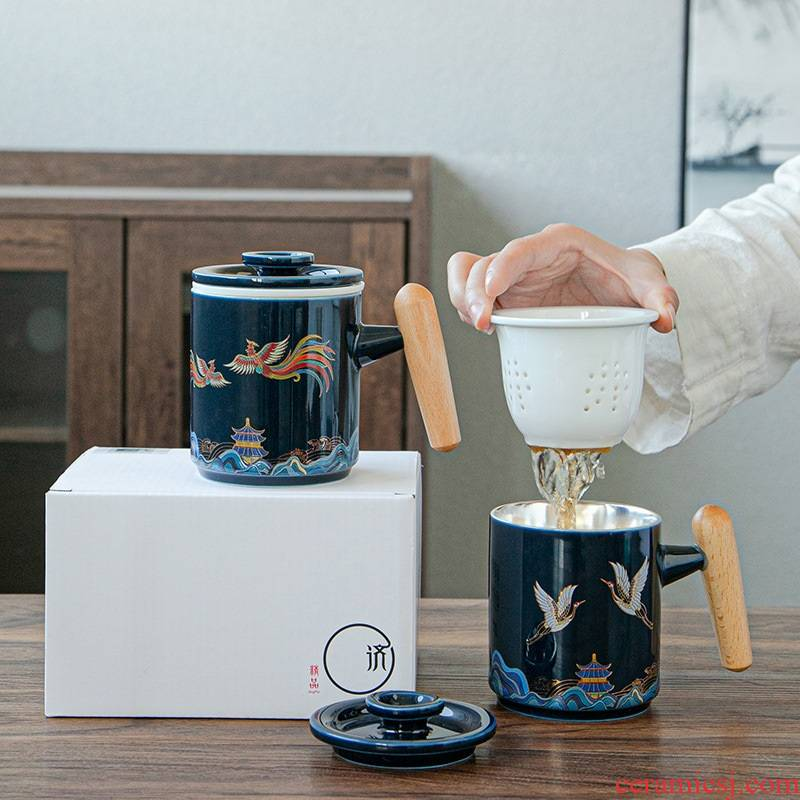 999 sterling silver mugs ceramic personal filtering separation to ultimately responds a cup of tea cups with cover business custom
