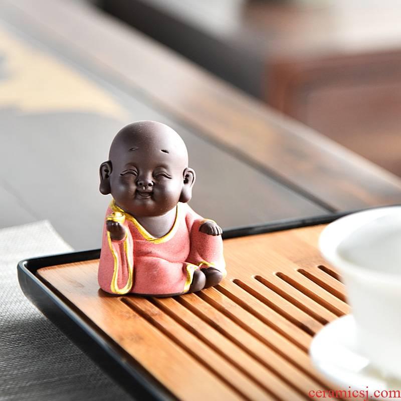 Hui shi pet boutique creative express little tea to keep purple little monk tea play animals tea tea tea furnishing articles