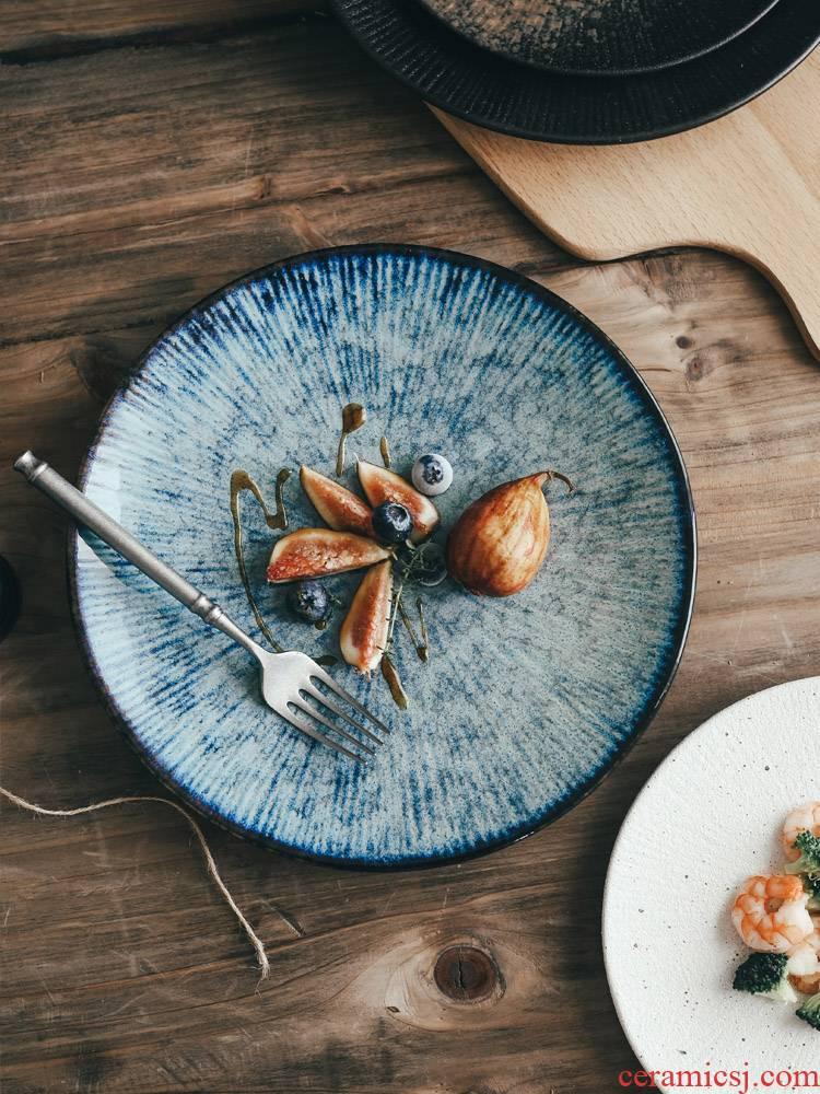 Western food plate decorative ceramic plates with dish restaurant tableware fruit bowl beef dish home ltd. disc pasta dish