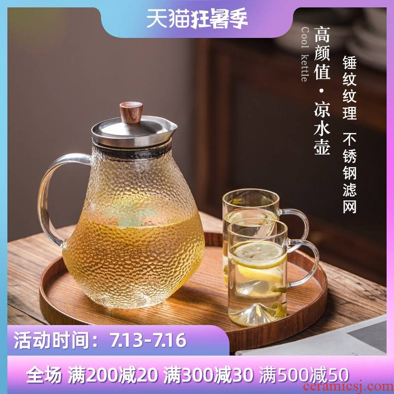 Cool Pyrex large capacity electric kettle TaoLu special high temperature resistant hammer stainless steel filter tea set