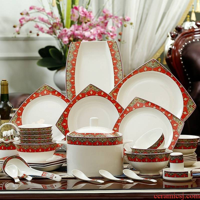 Eat artful longed for ceramic bowl down to 10 men and 56 skull porcelain tableware suit dishes household gifts special dishes in American