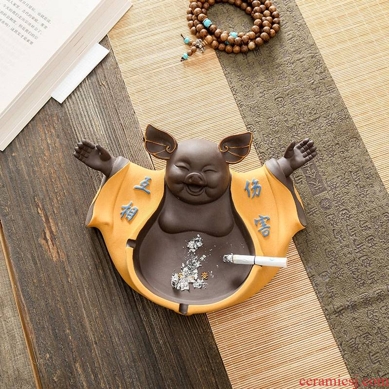 """Qiao mu tea with parts thousand """"chatoyancy sand ceramic ashtray home hotel office furnishing articles tea play a pet"""