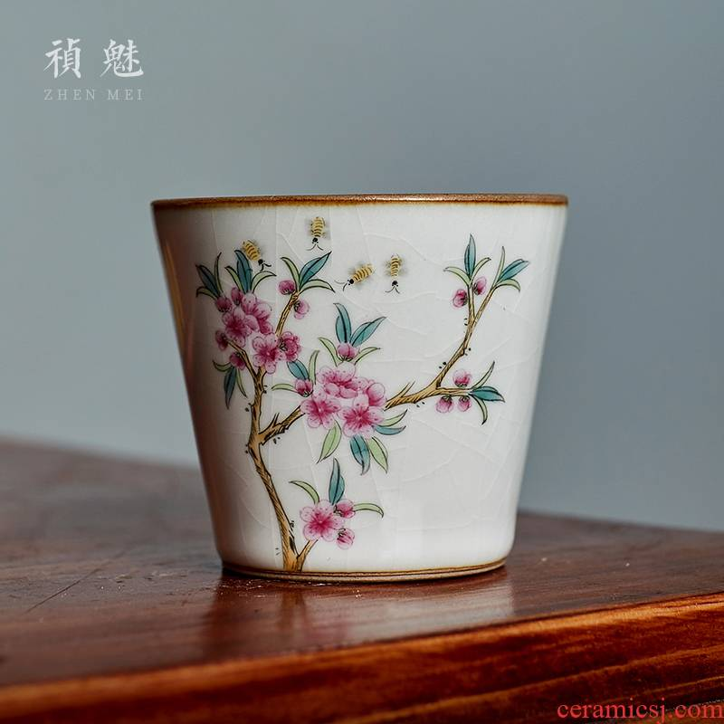 Shot incarnate your up hand - made jingdezhen ceramic cups kung fu tea set personal open piece of sample tea cup masters cup single CPU