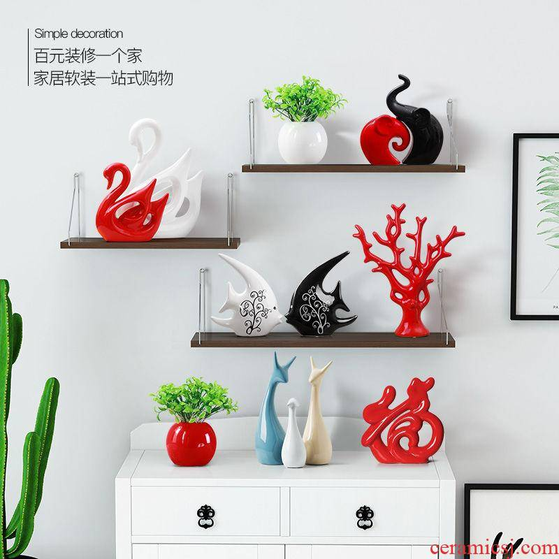 Nordic furnishing articles, household act the role ofing is tasted, the sitting room TV ark, wine fawn ceramic decoration ideas marca dragon color is soft outfit