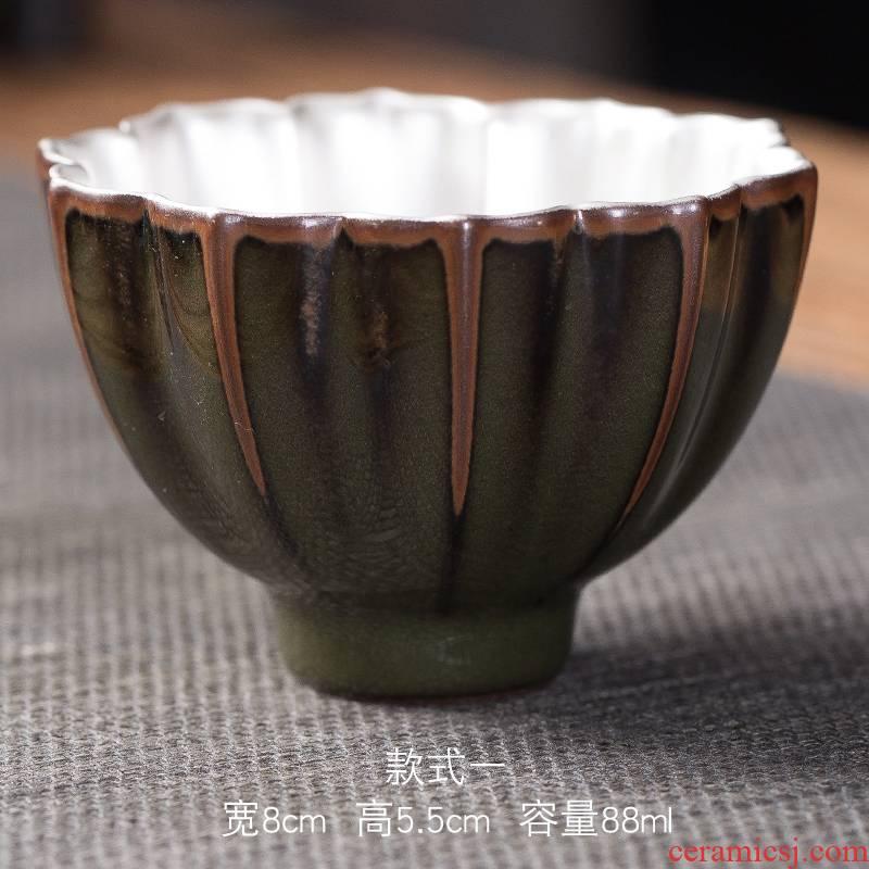 Ya xin company hall celadon manual master cup single kung fu tea tea bowl ceramic iron tire, sample tea cup