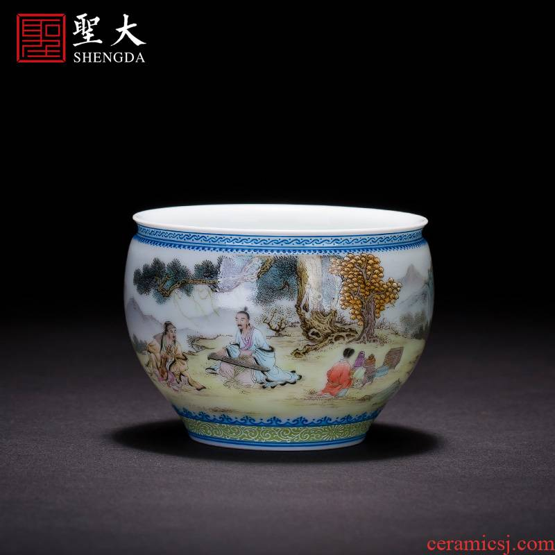 Submerged wood master kung fu tea cup hand - made pastel chart beam sample tea cup expressions using manual of jingdezhen tea service