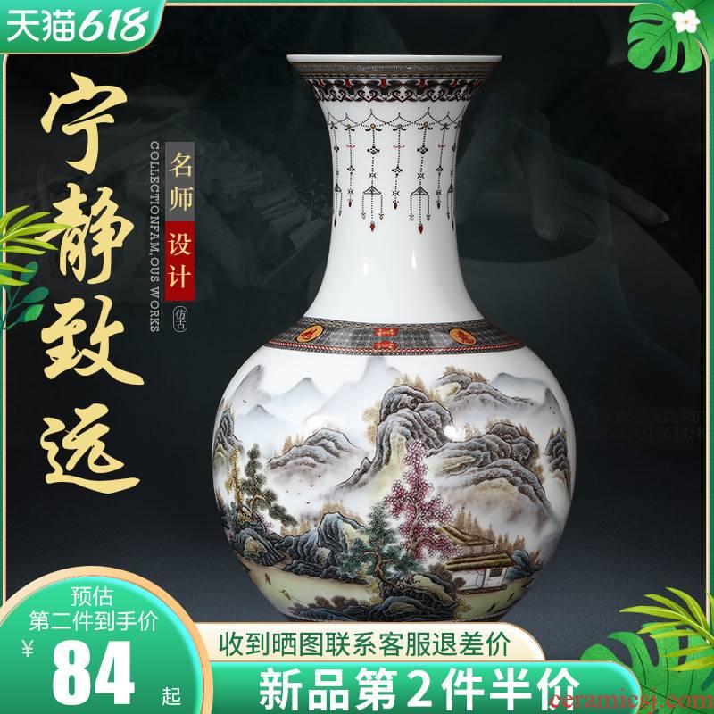 Jingdezhen ceramic antique vase furnishing articles of Chinese style home TV ark, flower adornment handicraft large living room
