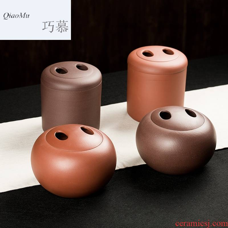 Qiao mu CMJ violet arenaceous caddy fixings large storage tanks by hand seal pot puer tea box of cattle awake POTS