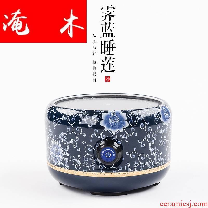 Submerged wood high - temperature flower pot boil tea heat - resistant kung fu tea set the side the glass pot of tea, the electric TaoLu