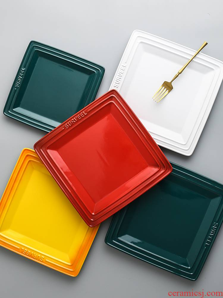 2021 Nordic tableware ceramic dish home dish dish dish beefsteak 2021 new plate side dish for breakfast