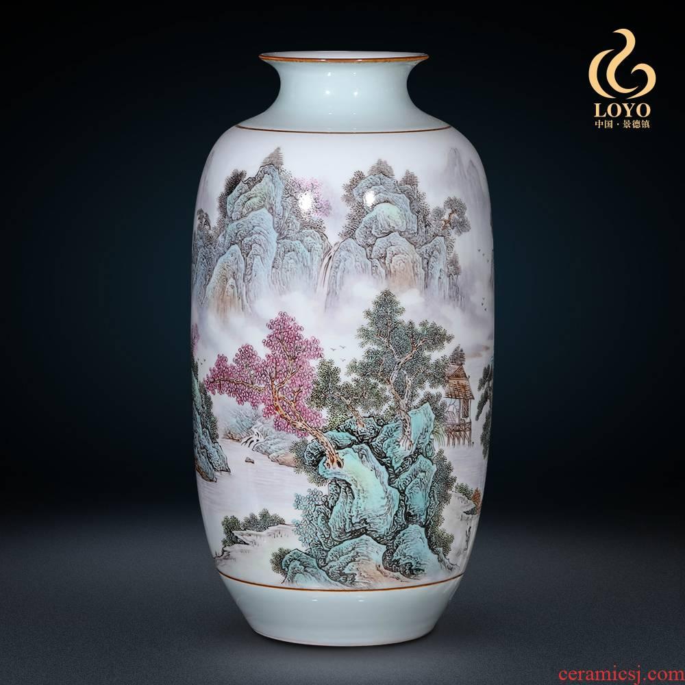 Jingdezhen ceramics, vases, flower arrangement sitting room place pastel household of Chinese style porch TV ark adornment ornament