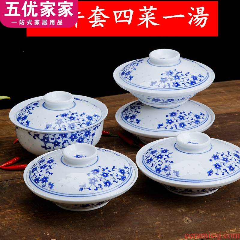 Four vegetables a soup bowl tureen lid plate and the blue and white and exquisite with tureen nostalgic blue and white porcelain