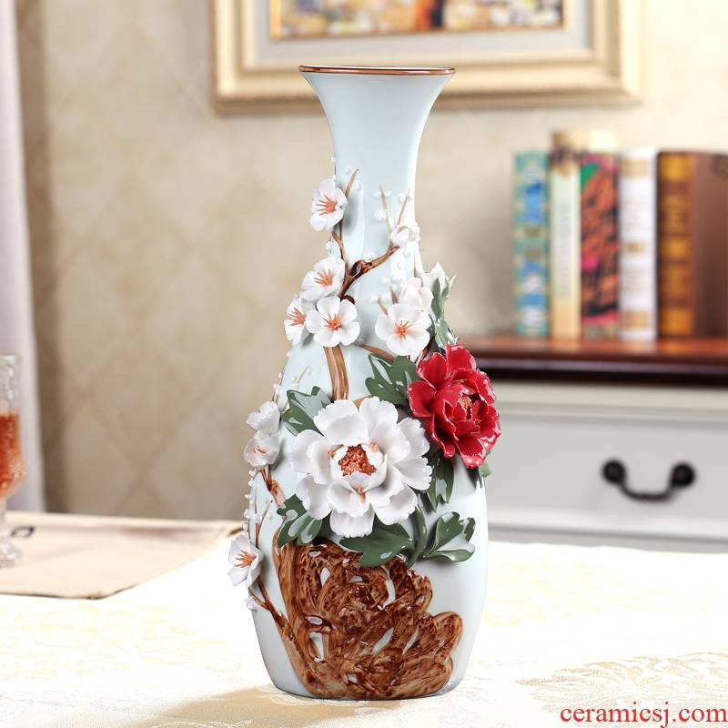 American light key-2 luxury high - grade household adornment ceramics vase continental dried flower arranging flowers sitting room porch place by hand