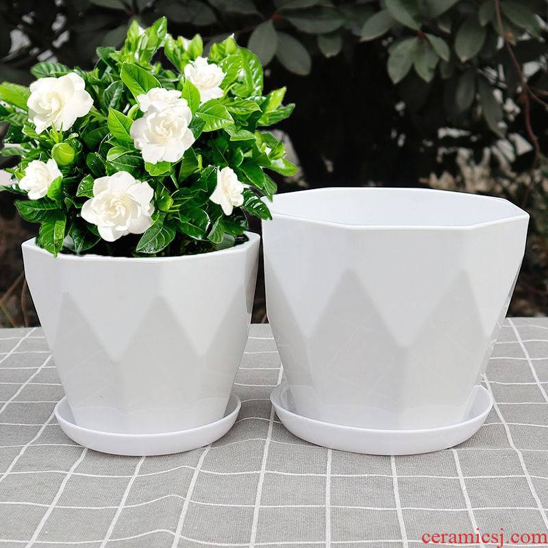 Flowerpot imitation ceramic special offer a clearance contracted Europe type large is suing balcony money plant bracketplant fleshy flower POTS with pallets
