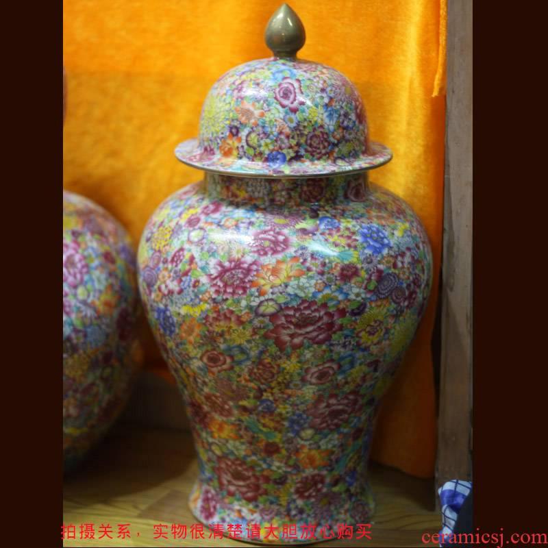 Thousands of jingdezhen porcelain vase color flower decoration vase full flower vases, art flower vase