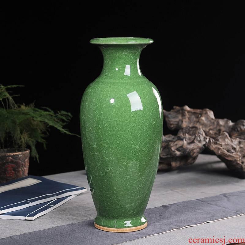 Jun porcelain of jingdezhen ceramics ice crack vases, wine ark, decoration living room TV cabinet office furnishing articles