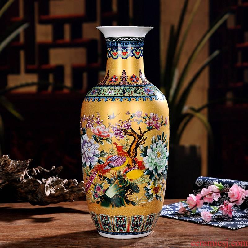 Jingdezhen ceramic household wine ark, adornment handicraft sitting room place, TV ark, study of large vases, pottery and porcelain