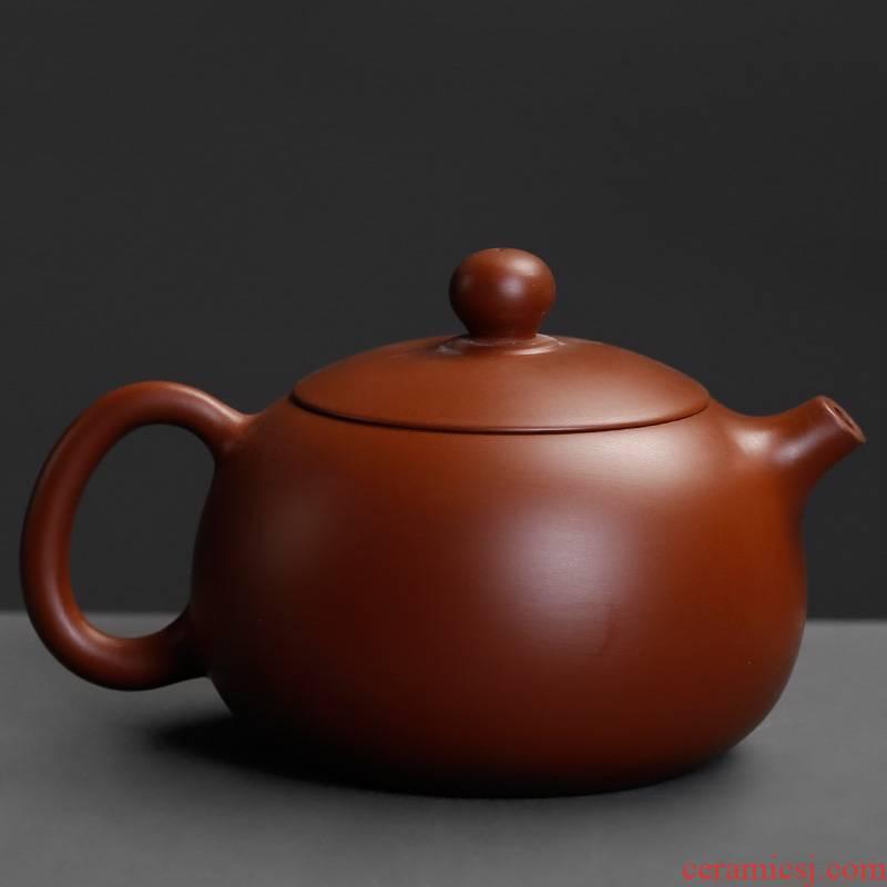 Zhu, violet arenaceous mud ruyi teapot household single pot of kung fu tea brewing a single single pot of small ceramic teapot