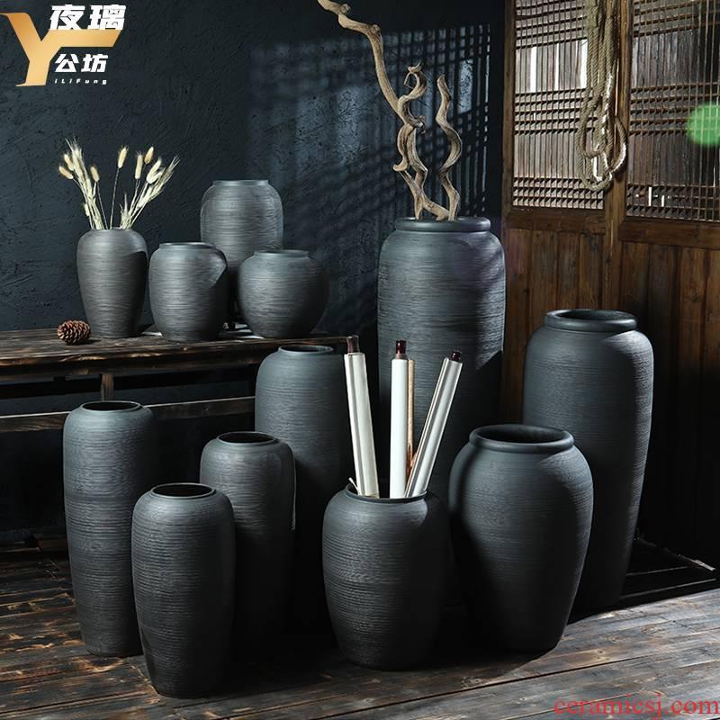 Jingdezhen high temperature ceramic vase landing ideas for porcelain high dry flower arranging flowers, ceramic restoring ancient ways furnishing articles