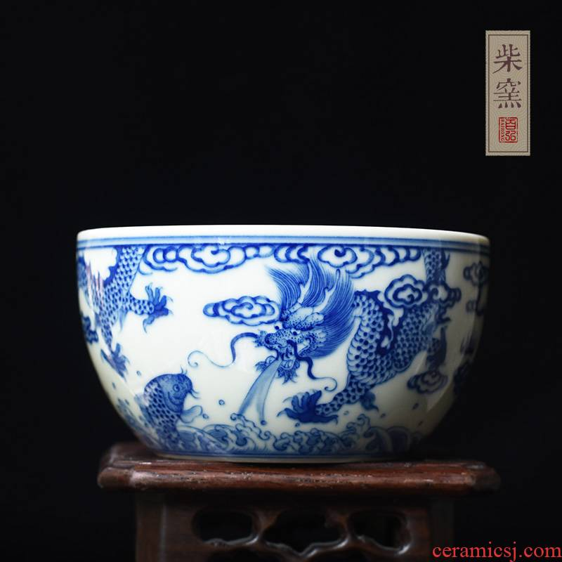 Hundred hong maintain mackerel, jingdezhen dragon master cup single cup cup firewood hand - made sample tea cup cylinder cup